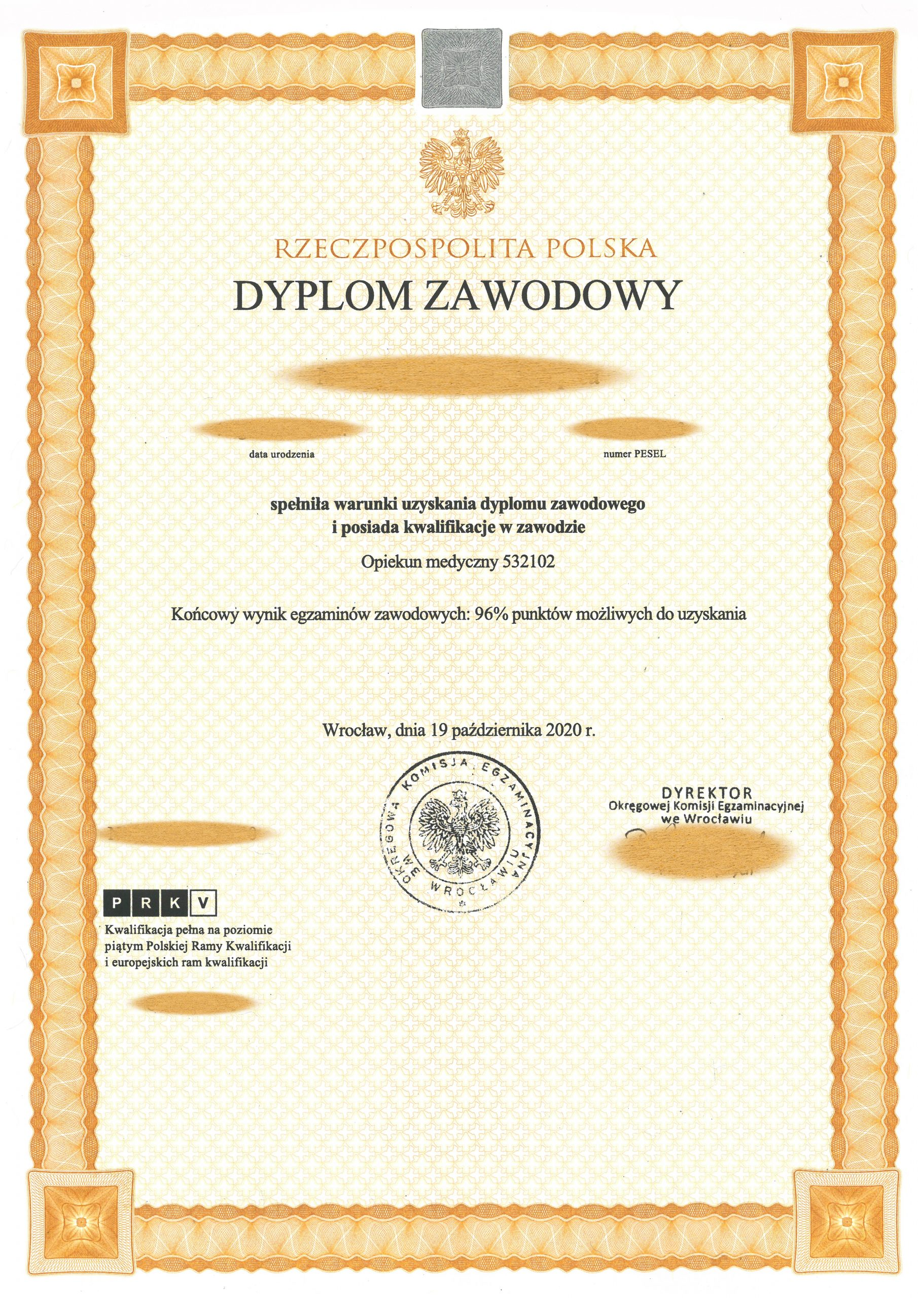 Dyplom OKE